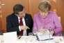 Angela Merkel et le premier ministre turc, Ahmet Davutoglu, à Berlin, le 22 janvier.