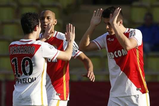 L'Argentin Guido Carrillo a inscrit le troisième but monégasque dimanche24janvier lors de la rencontre Mocaco-Toulouse (4-0).