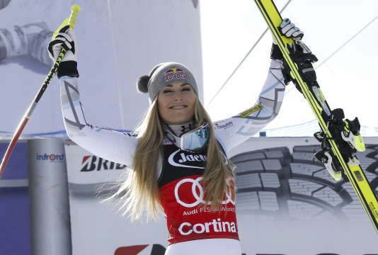 Lindsey Vonn a réalisé un doublé à Cortina d'Ampezzo, dimanche 24 janvier.