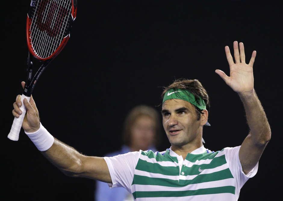 Le Suisse Roger Federer, 3e mondial, s'est qualifié pour les quarts de finale de l'Open d'Australie en battant le Belge David Goffin en trois sets 6-2, 6-1, 6-4, dimanche24janvier à Melbourne. Federer affrontera le Tchèque Tomas Berdych, 6emondial.