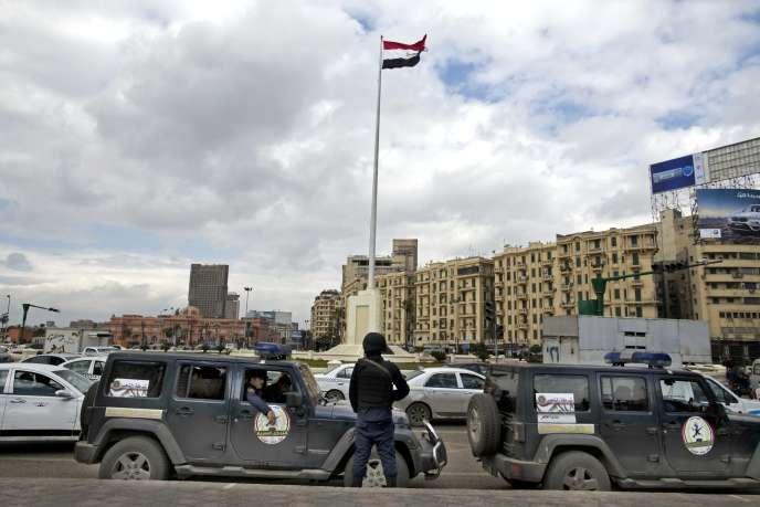 Sur la place Tahrir, le 24 janvier.