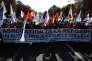 Le cortège de la manifestation du 10 octobre 2015, à Paris, contre la réforme du collège.