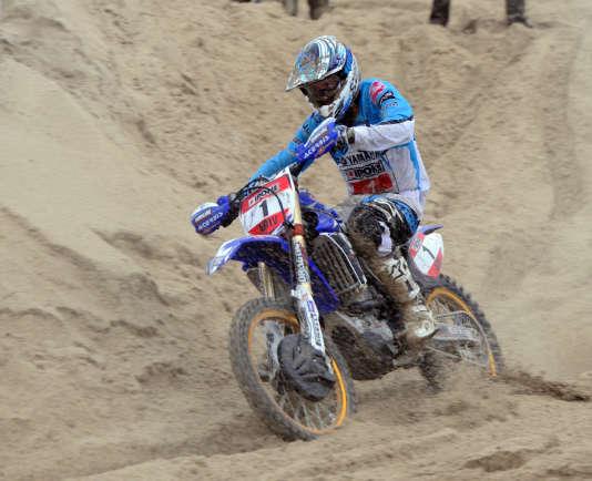 Jean-Claude Moussé, quatre fois vainqueur, en 1999, 2004, 2012 et 2013 (photo sur Yamaha 450 YZF), court son dernier Enduropale dimanche 31 janvier, à 44 ans.