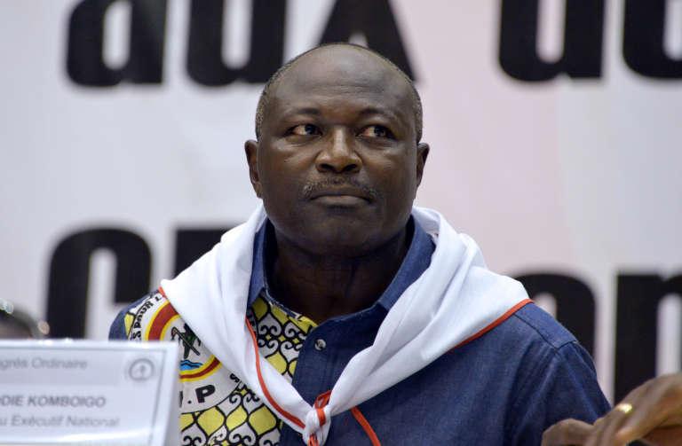 Eddie Constance Komboïgo, chef du parti Congrès pour la démocratie et le progrès (CDP), en mai 2015.