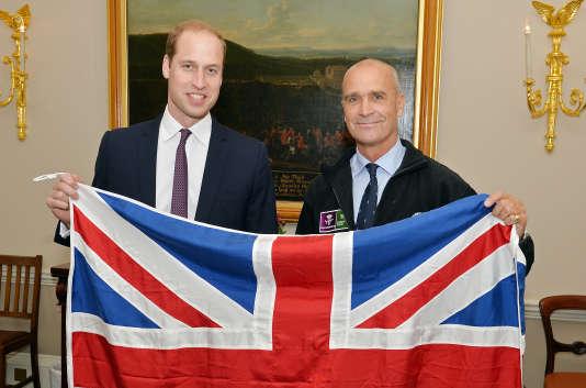Le prince William et Henry Worsley, le 19 octobre 2015.