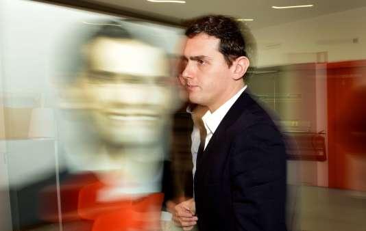 Albert Rivera, le dirigeant du parti de centre droite  Ciudadanos, le 25 janvier à Madrid.