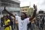 Manifestants favorables au départ du président Michel Martelly, à  Port-au-Prince, dimanche 24 janvier.