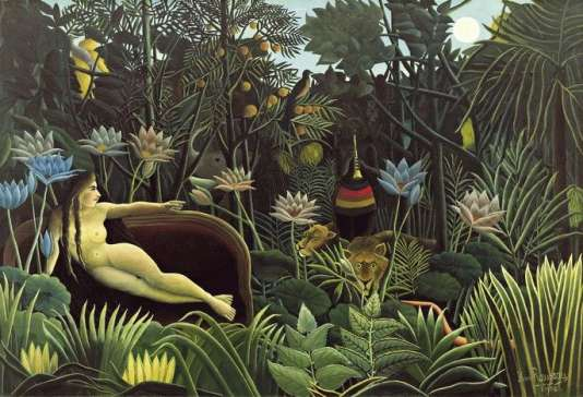 "Henri Rousseau, ""Le Rêve"", 1910, Museum of Modern Art, New York."