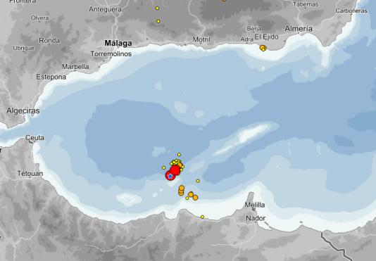 L'épicentre du séisme a été localisé au nord d'Al-Hoceïma, au Maroc.