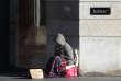 Une personne sans abri, dans une rue de Lyon, en décembre2014.
