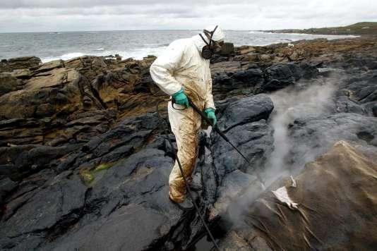 Le 10 avril 2003, sur la plage Carnote en Galice, au nord ouest de l'Espagne.