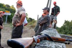 Des chasseurs à Pietrosella en Corse, le 22 août 2013.