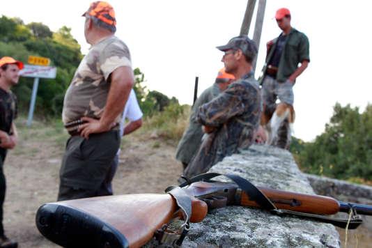 Des chasseurs en Corse en août 2013.