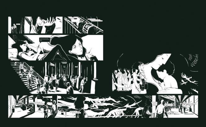 Le récit de Marietta Ren totalise 1 600 écrans que le lecteur-spectateur fait dérouler en scrollant horizontalement.