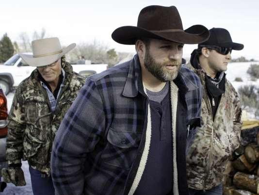 Ammon Bundy, leader du mouvement des miliciens retranchés dans le refuge de l'Oregon, le 6 janvier dernier.