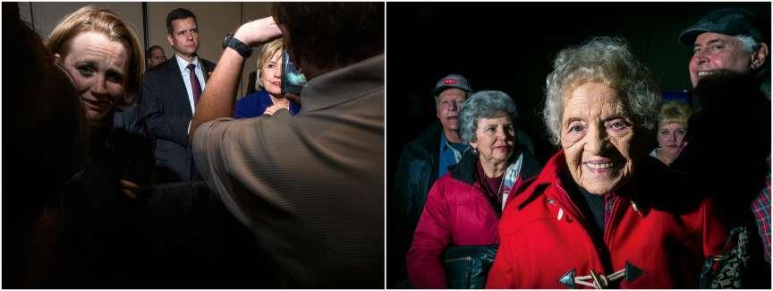 Au fil des ans, les habitants de l'Iowa ont pris goût aux meetings politiques, qu'ils jugent en fins connaisseurs. Ici, celui d'Hillary Clinton à Burlington, le 20 janvier.