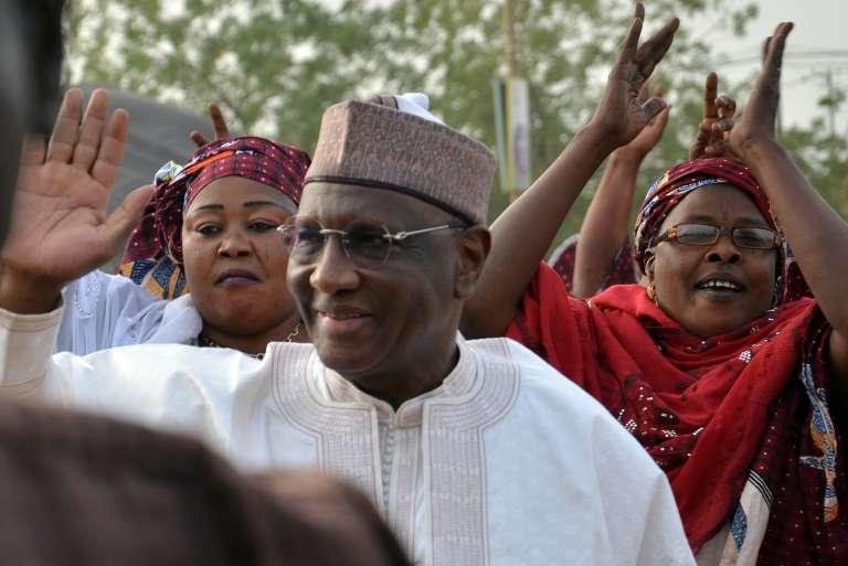 Amadou Boubacar Cissé, candidat l'Union pour la démocratie et la République (UDR-Tabbat), le 27 janvier 2015, à Niamey.