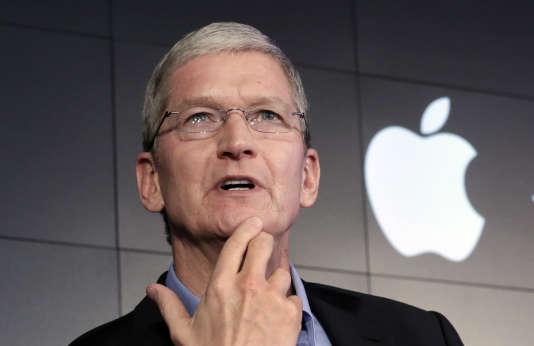 Le PDG d'Apple, Tim Cook, le 30 avril.