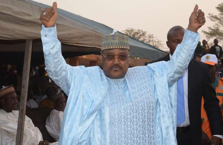 Le candidat du Mouvement national pour la société de développement (MNSD Nassara), Seyni Oumarou, le 27 janvier 2016 à Niamey.