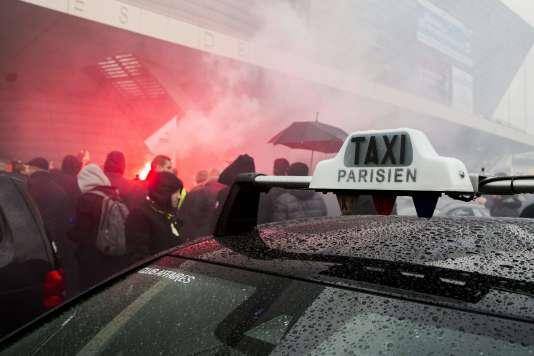 Porte Maillot, le 27 janvier dans la matinée.