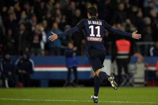 Angel Di Maria, du Paris Saint-Germain, club possédé par le Qatar, comme la chaîne BeinSports AFP PHOTO / FRANCK FIFE