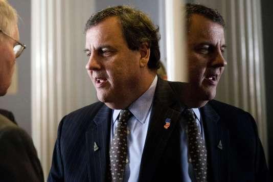 Chris Christie, candidat aux primaires républicaines, à Concord (New Hampshire), le 25 janvier.