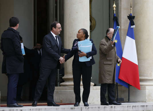 François Hollande et Christiane Taubira à l'Elysée le 10 janvier.