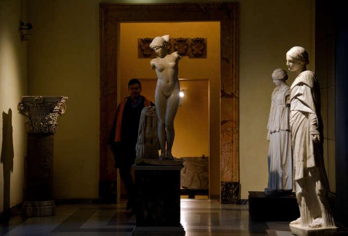 Au Musée du Capitole à Rome, le 26 janvier 2016.