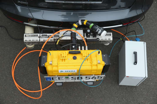 Test d'émission de gaz polluants, en conditions réelles, en Allemagne.