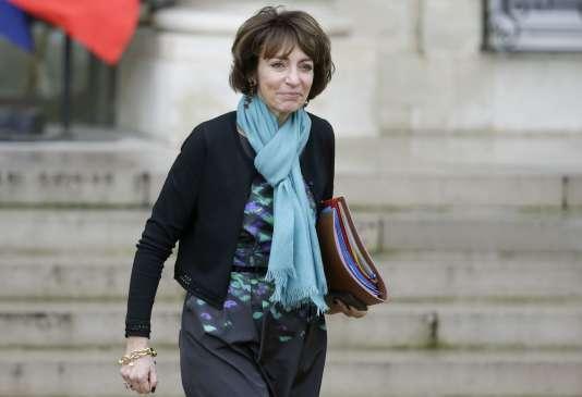 La ministre des affaires sociales, Marisol Touraine, à sa sortie de l'Elysée, à Paris le 27 janvier.
