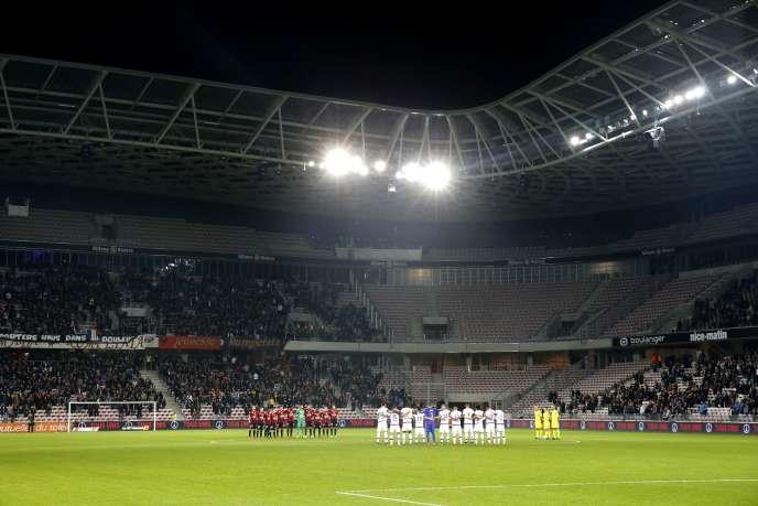 Match entre Nice et Lyon, à l'Allianz Riviera, le 20 novembre 2015.