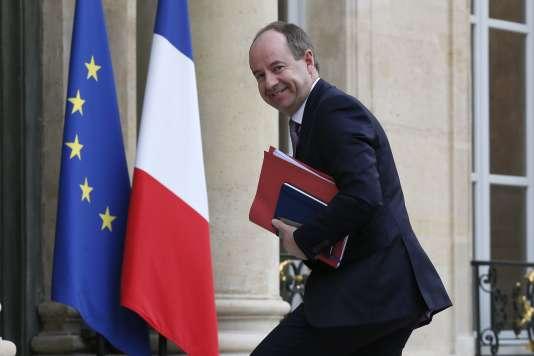 Le nouveau ministre de la justice Jean-Jacques Urvoas, à l'Elysée le 18 février 2015.