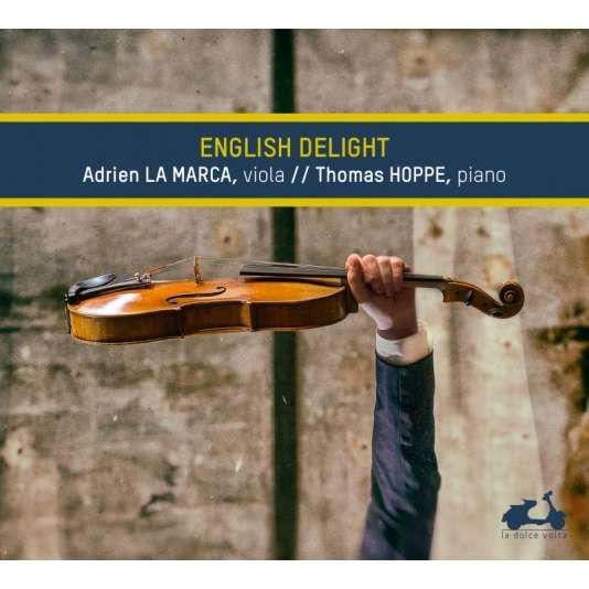 Pochette de l'album « English Delight », par Adrien La Marca (alto) et Thomas Hoppe (piano).