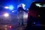 La police a coupé la route 395, à une trentaine de kilomètres de Burns, dans l'Oregon, dans la nuit du 26 janvier 2016.