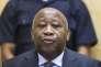 Laurent Gbagbo, lors d'une audience préliminaire devant la Cour pénale internationale, à LaHaye (Pays-Bas), le 19février2013.
