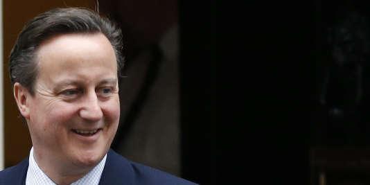 Le premier ministre britannique David Cameron à sa résidence du 10, Downing Street, à Londres, le 27 janvier 2016.