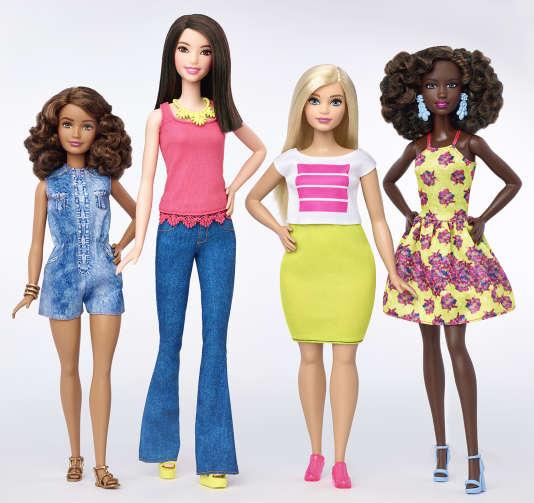"""Petite, grande ou """"ronde"""", Barbie va se décliner sous différentes formes, en sept types de couleurs de peau différentes."""