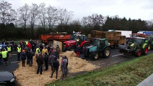 Colère des agriculteurs en Bretagne