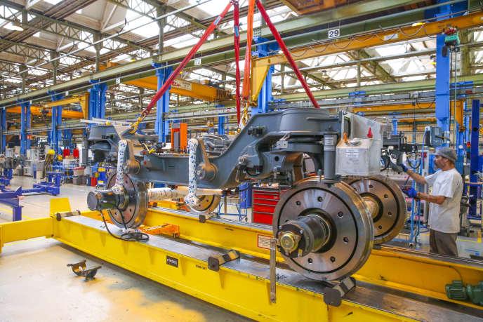 L'usine Alstom du Creusot (Saône-et-Loire) fabrique du matériel ferroviaire