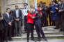 Christiane Taubira et Jean-Jacques Urvoas, au ministère de la justice, à Paris, mercredi 27 janvier 2016.