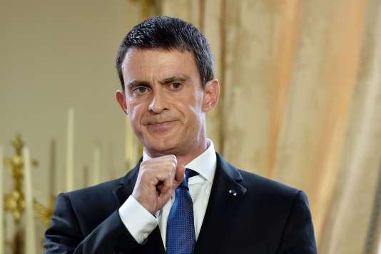 Le premier ministre Manuel Valls lors des vœux à la presse le 28 janvier.