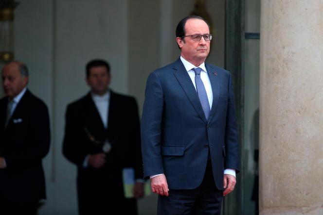 François Hollande, le 28 janvier à l'Elysée.