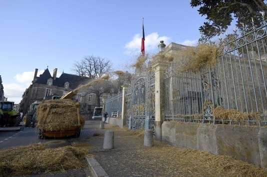 Manifestation d'agriculteurs le 28 janvier, à Rennes (Ille-et-Vilaine).