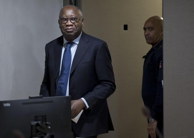 L'ancien président ivoirien Laurent Gbagbo, au début de son procès devant le Tribunal pénal international de La Haye, en janvier 2016.