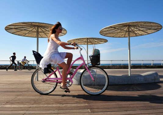 Cycliste israélienne.
