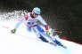 Le Suisse Nils Mani en entrainement le 28 janvier 2016 à Garmisch-Partenkirchen en Allemagne.