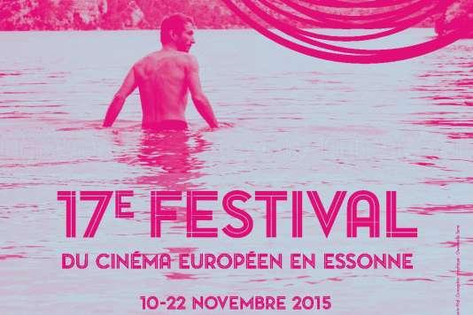 Détail de l'affiche du 17e Festival du cinéma européen en Essonne, du 10 au 22 novembre 2015.