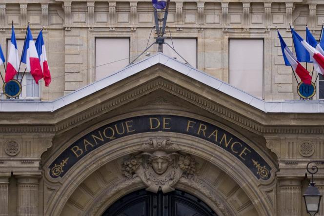 La devanture de la Banque de France, à Paris.
