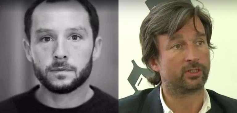 A gauche, le photographe Philip Moore. A droite, le journaliste Jean-Philippe Rémy.
