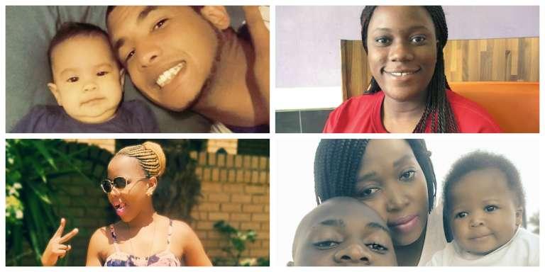 Chaque semaine,  Giraffe met en avant un candidat ayant trouvé du travail à l'aide de  l'application. Kulani Ndolovu, devenu chauffeur Uber, pose en bas à droite avec sa famille.